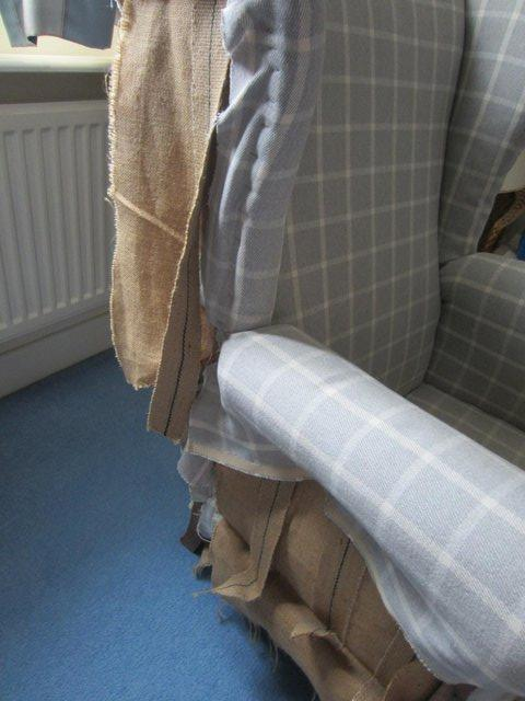 Image 3 of Upholstery project - high backed armchair