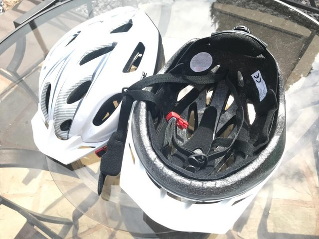 Preview of the first image of Pair of cycling helmets.