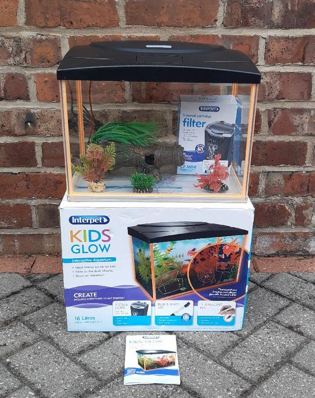 Preview of the first image of Interpet Kids Glow Interactive Aquarium, 16 Litre.