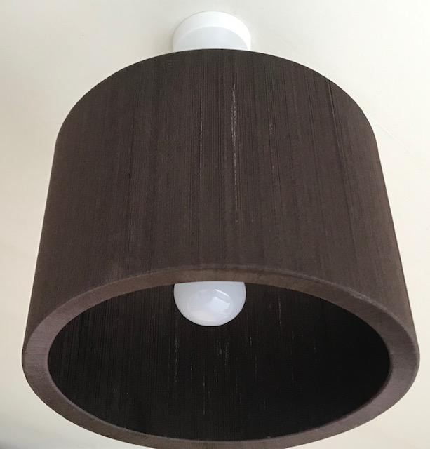 Preview of the first image of Brown Round ceiling light shade.