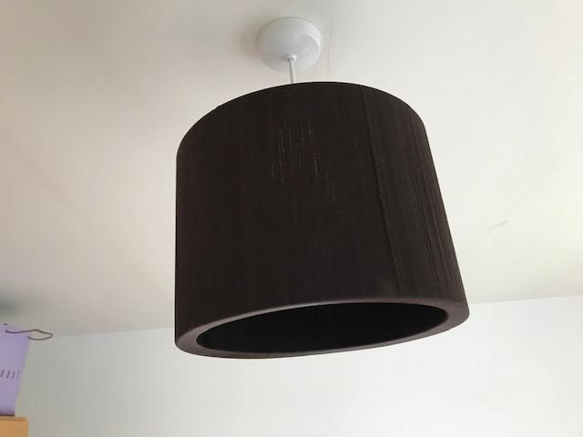 Image 3 of Brown Round ceiling light shade