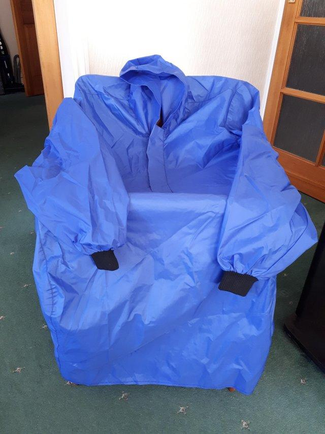 Preview of the first image of Waterproof cover for wheelchair users.
