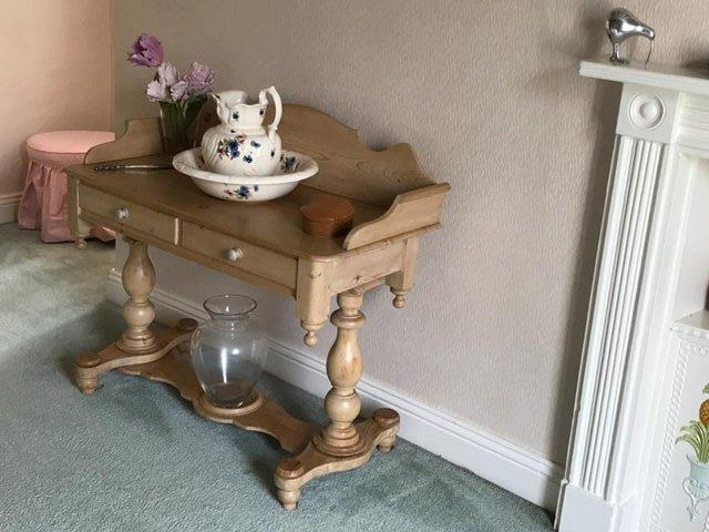Preview of the first image of Antique pine washstand.