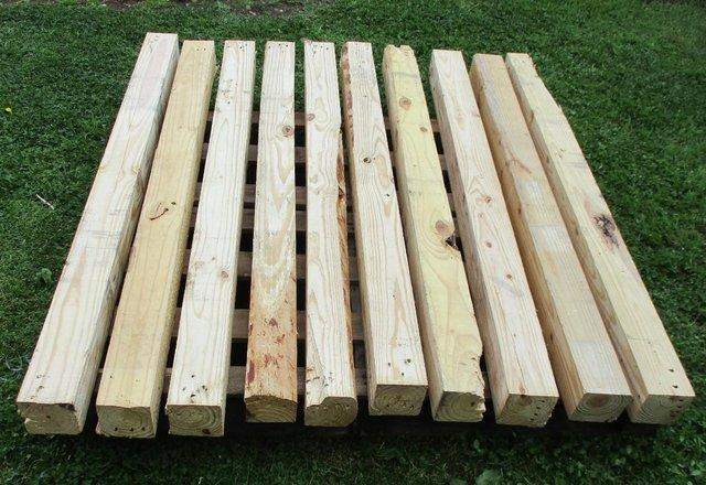Image 2 of Used Heavy Duty Pallet Wood Posts Various Lengths