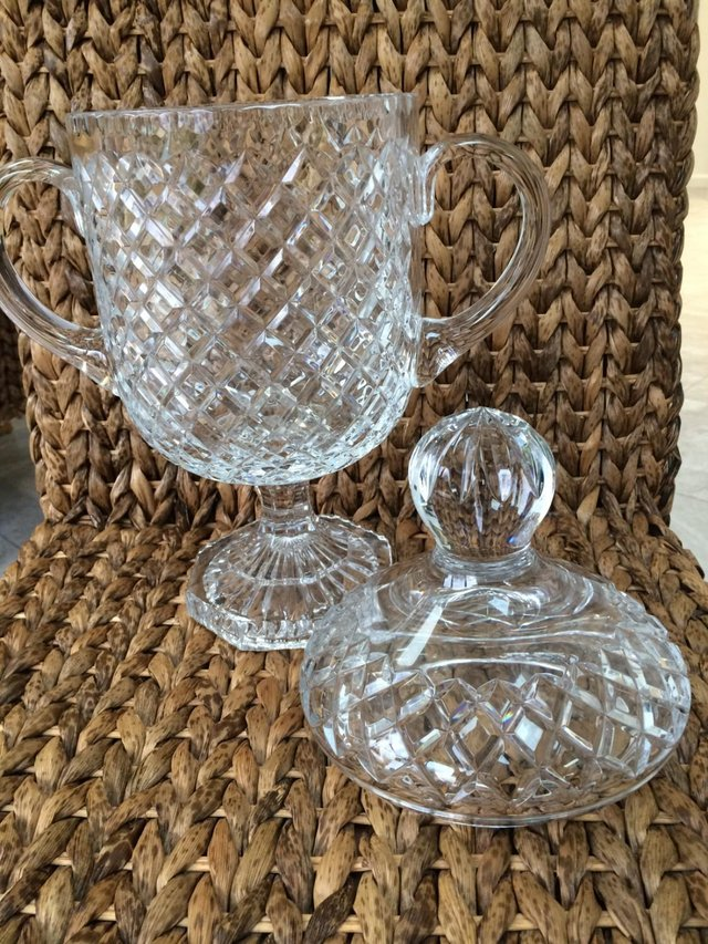 Image 2 of Ornamental Cut Glass Urn with matching lid