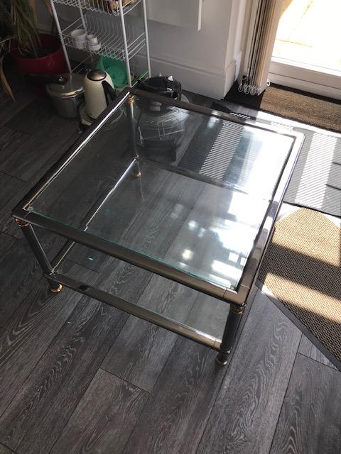 Image 3 of Glass top coffee table and Matching Nest of 3 tables