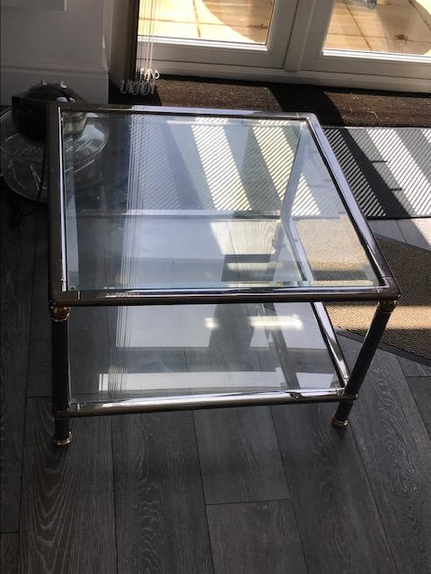 Image 4 of Glass top coffee table and Matching Nest of 3 tables