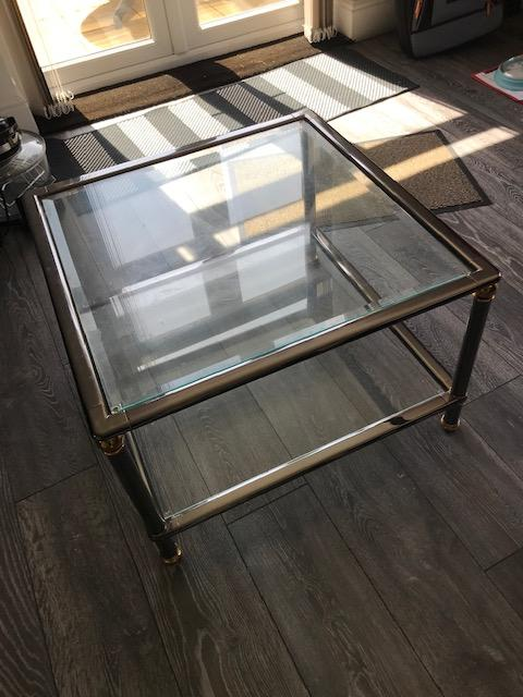 Image 5 of Glass top coffee table and Matching Nest of 3 tables