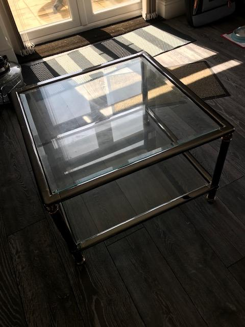 Image 7 of Glass top coffee table and Matching Nest of 3 tables