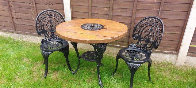 Preview of the first image of Stunning cast vintage bistro set.