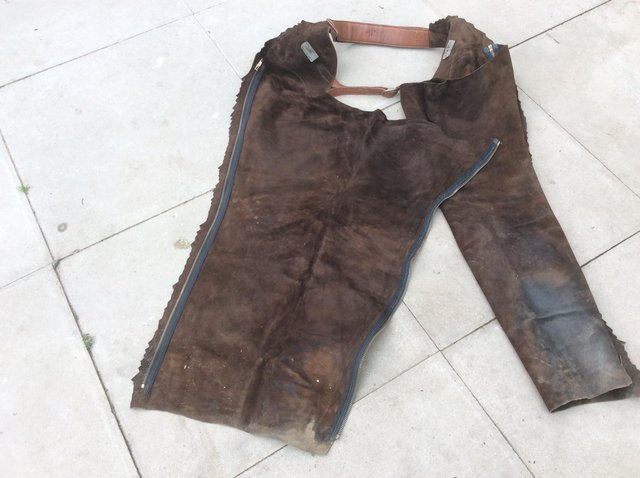Preview of the first image of Full Length Leather Chaps.