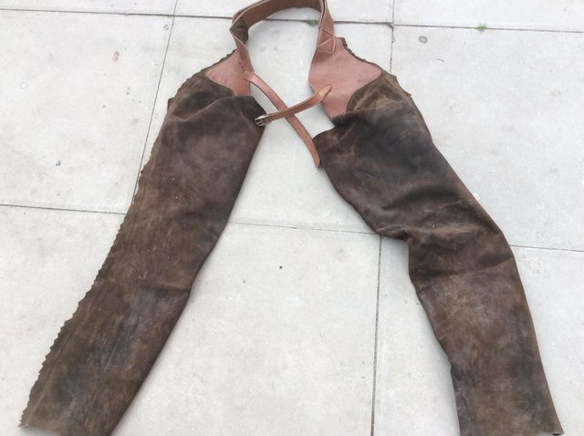 Image 2 of Full Length Leather Chaps
