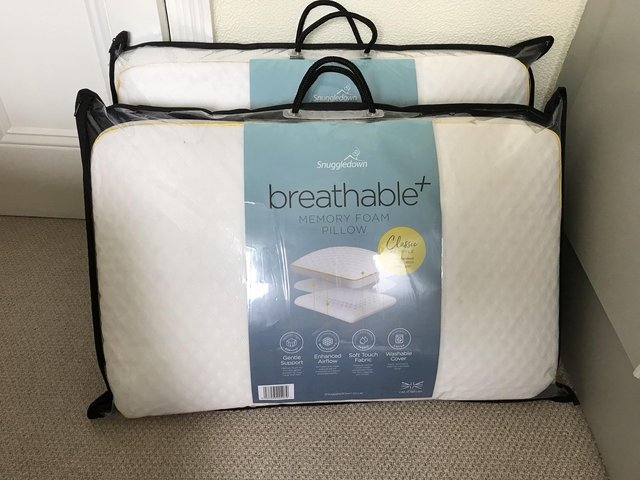 Preview of the first image of Snuggledown Breathable Memory Foam Pillows.