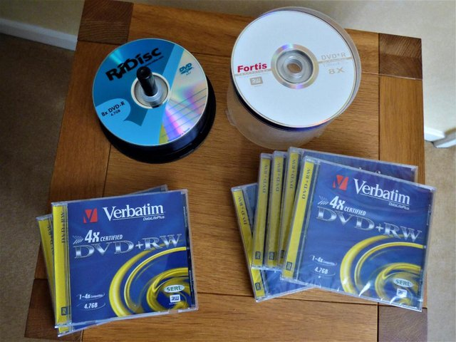 Image 2 of Joblot Blank DVD's, 7 x Cased DVD+RW and Spindle of 34 +/-R