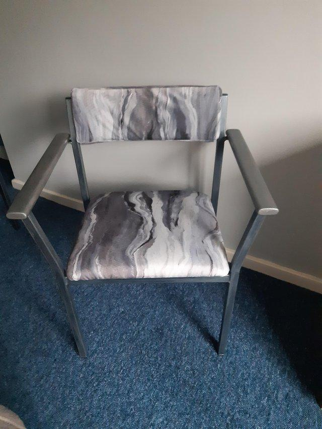 Image 2 of Pair of reupholstered chairs