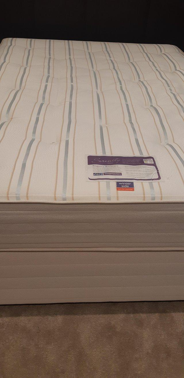 Preview of the first image of Excellent condition double bed & mattress.