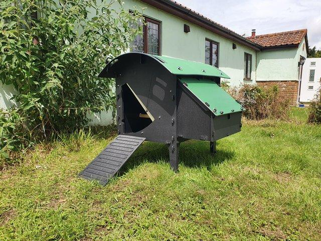 Preview of the first image of Recycled plastic chicken coop.