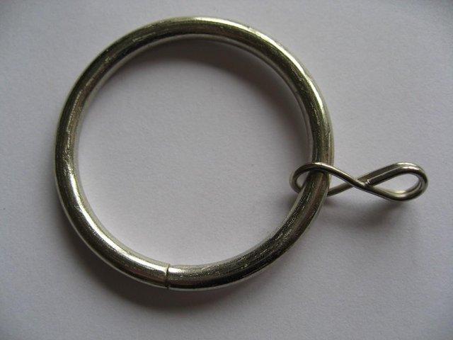 Image 2 of 18 Silver Metal Curtain Rings 36mm / 43mm Brand New Inner Di