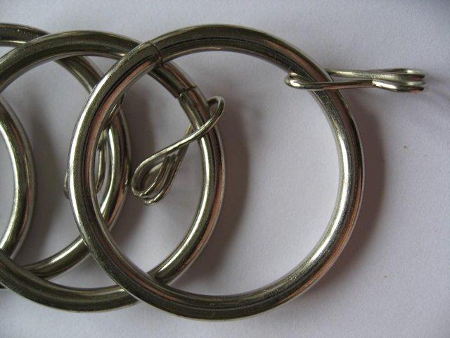 Image 3 of 18 Silver Metal Curtain Rings 36mm / 43mm Brand New Inner Di