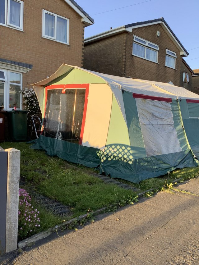 Preview of the first image of Reluctant sale of much loved Trigano trailer tent.