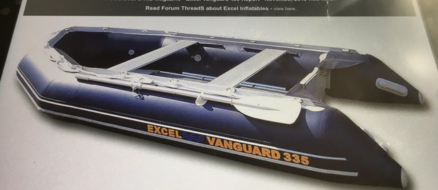 Preview of the first image of NEW EXCEL VANGUARD XHD 335 inflatable boat with extras..