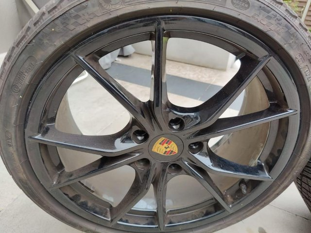 Preview of the first image of 911 991.1 Carrera S Gloss Black Alloy set with Winter Tyres.