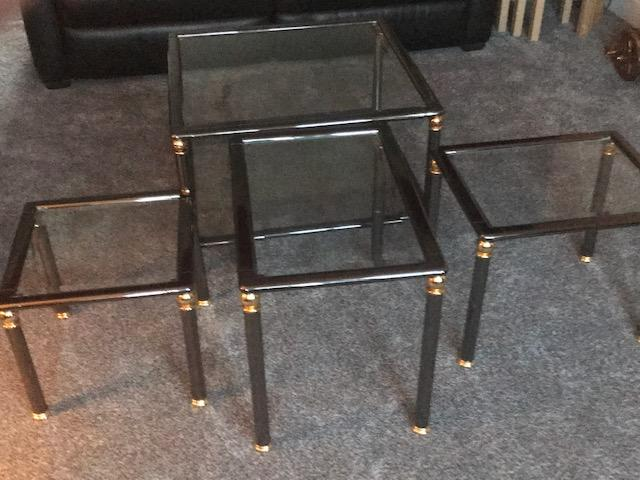 Image 15 of Glass top coffee table and Matching Nest of 3 tables
