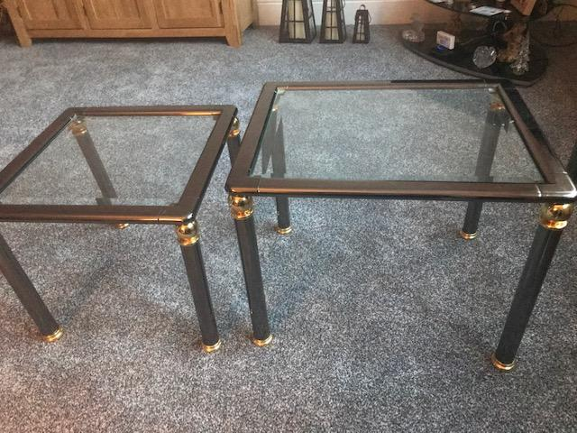 Image 16 of Glass top coffee table and Matching Nest of 3 tables