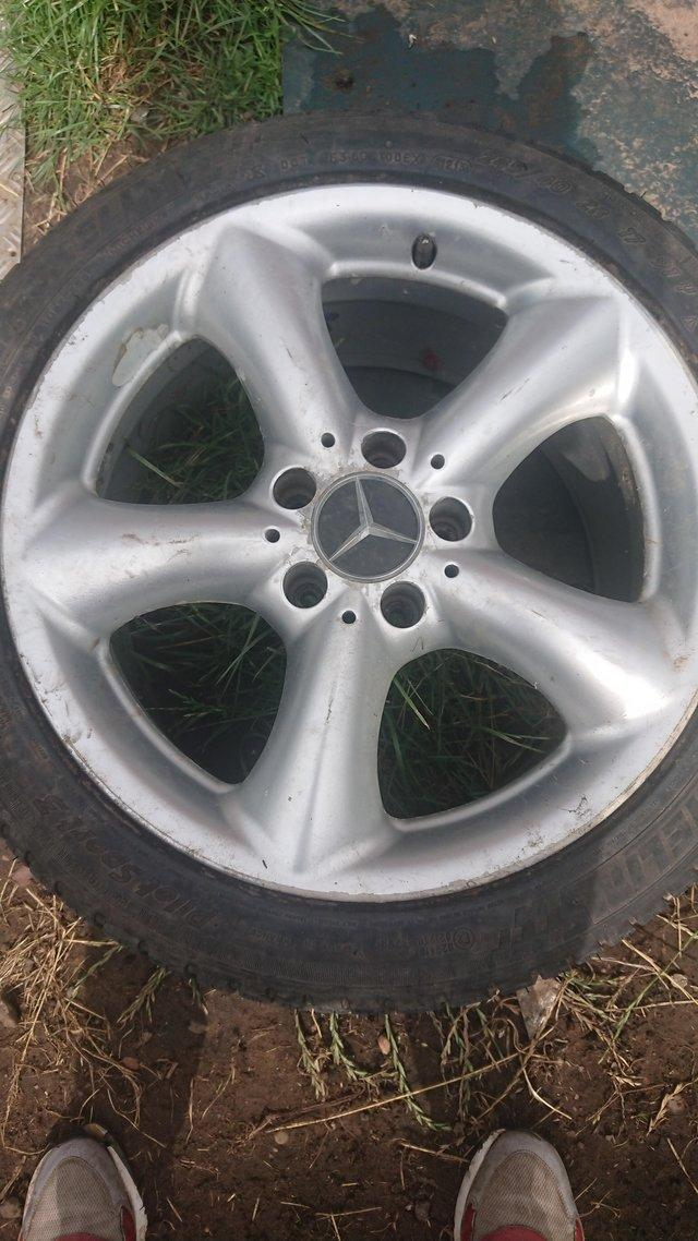 Image 2 of Set of four Mercedes wheels. Good condition.