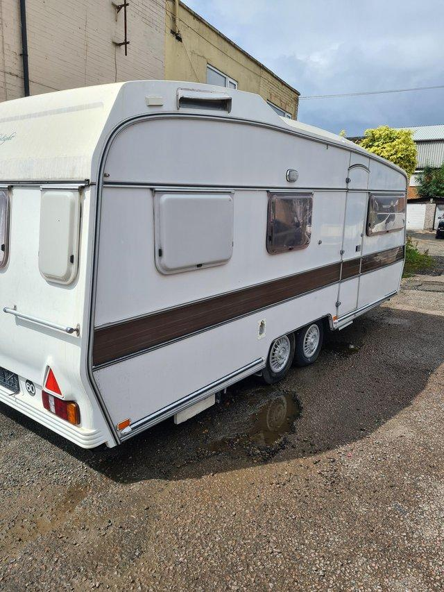Preview of the first image of 1980s vintage caravan twin axle.