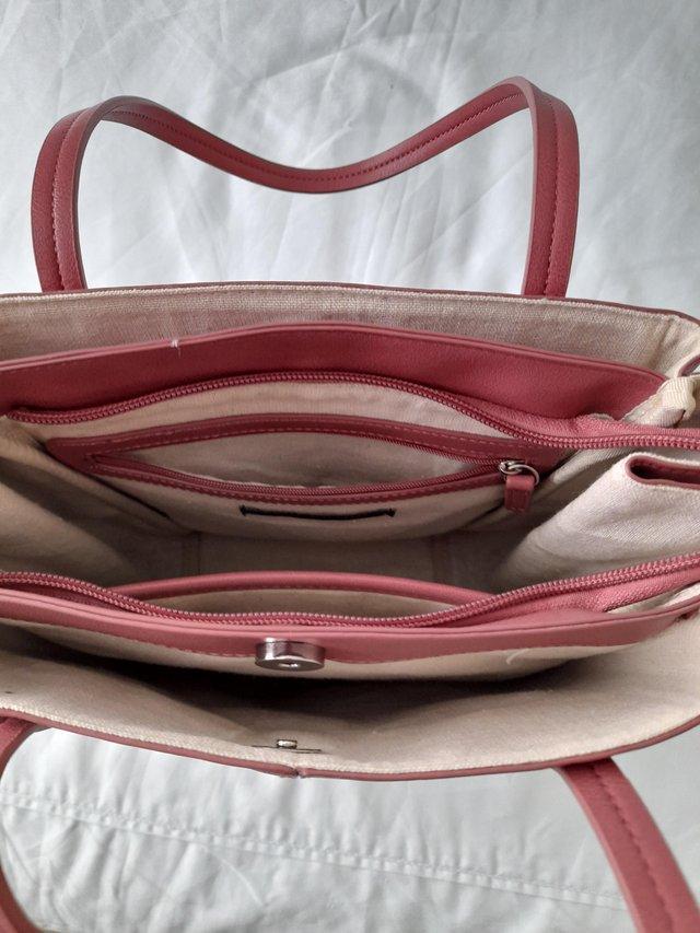 Image 2 of M&S Collection Large Pink Handbag