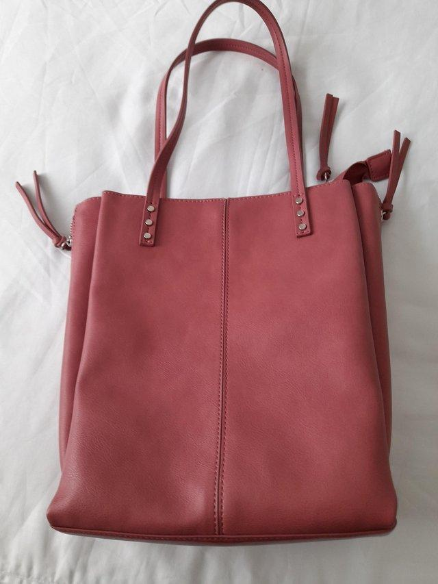 Preview of the first image of M&S Collection Large Pink Handbag.