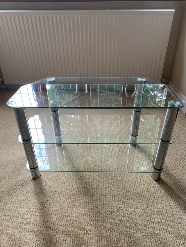 Image 2 of Glass TV Stand with three levels