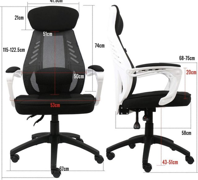 Image 2 of Ergonomic Recliner Office Chair with Footrest and Cushioning