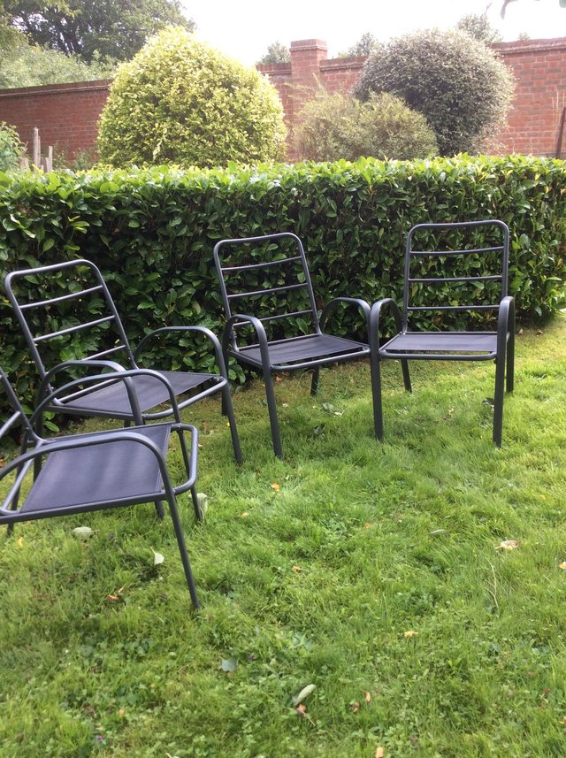 Image 2 of Large garden patio dining chairs