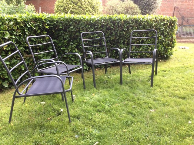 Image 3 of Large garden patio dining chairs