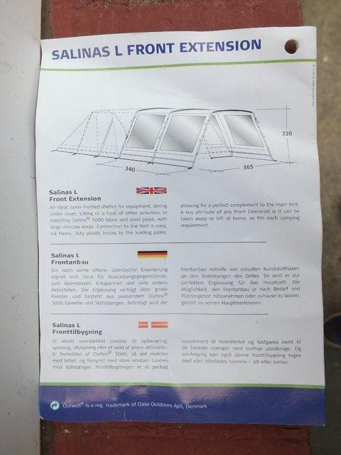 Image 4 of EXTENSION FOR OUTWELL SALINAS L FAMILY TENT