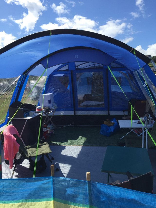 Image 2 of Hi Gear 6 Man Tent, Cooker, 2 x Tables, Canopy