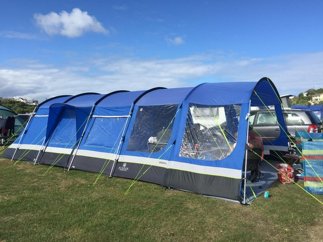 Image 3 of Hi Gear 6 Man Tent, Cooker, 2 x Tables, Canopy