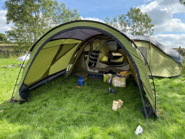 Preview of the first image of Zempire Mothership 6 Man Tent + Canopy (extra).