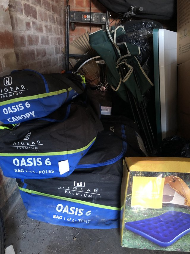 Preview of the first image of Oasis 6 man tent with Canopy also extras.