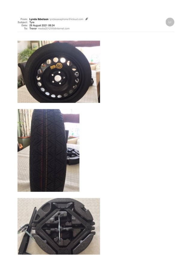 Preview of the first image of Spacesaver spare wheel and full kit for Astra 2015 -.