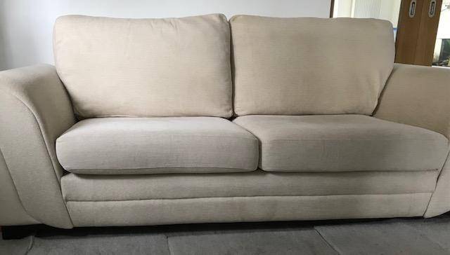 Preview of the first image of 3 Seated Sofa with foot stool in excellent condition.