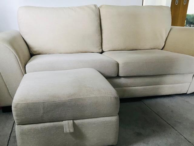 Image 2 of 3 Seated Sofa with foot stool in excellent condition