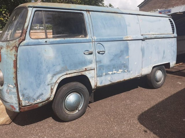Preview of the first image of volkswagen type 2 panel van , rare right hand drive.