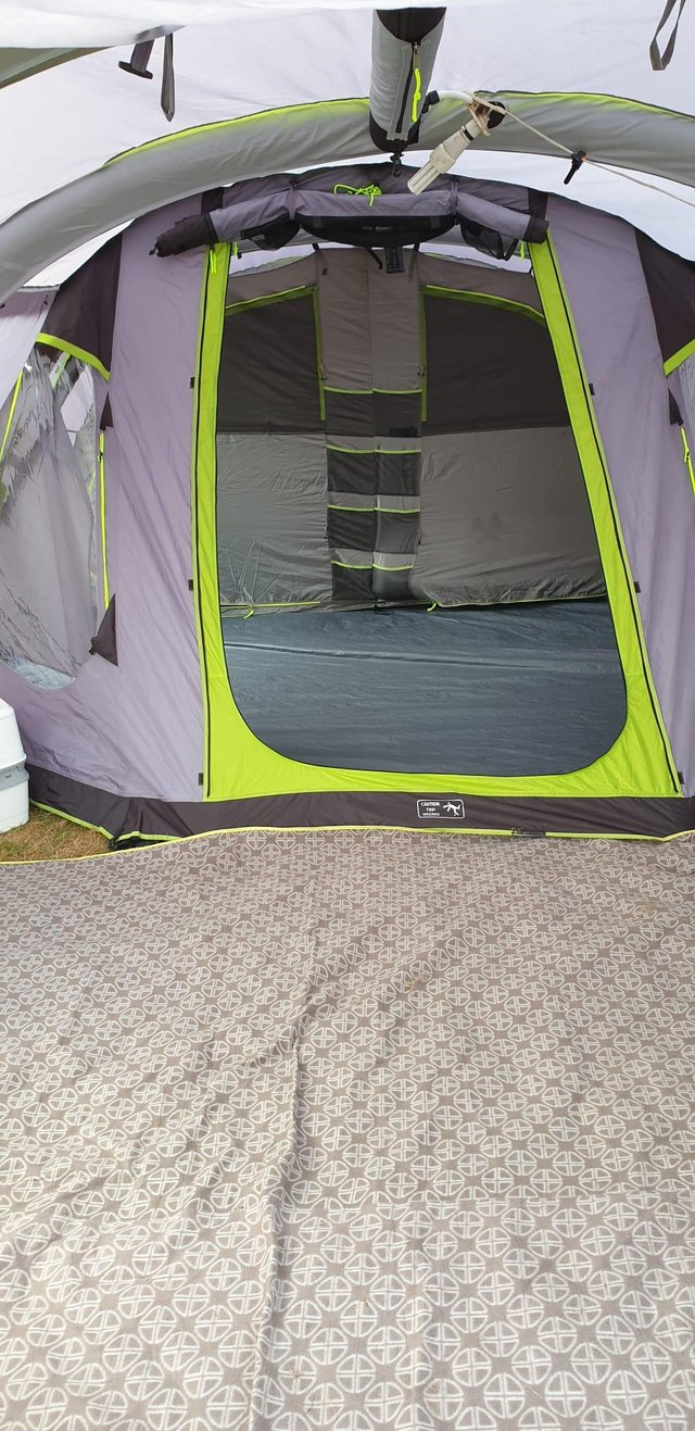 Preview of the first image of AIRGO STRATUS 600 AIR TENT camping set up.
