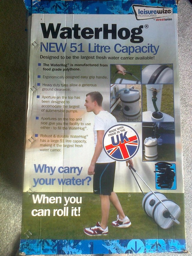 Preview of the first image of New 51 Litre Caravan Water Hog.
