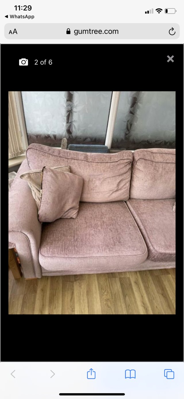 Image 2 of Used DFS - 3 Seater sofa - FREE