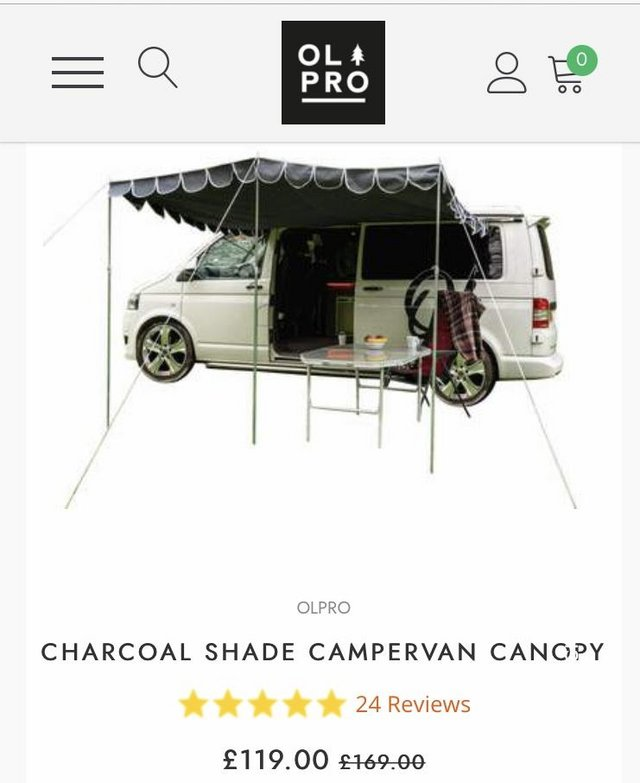 Image 2 of Olpro camper van canopy Grey colour