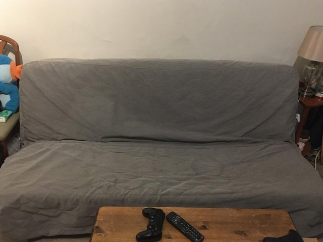 Preview of the first image of IKEA nyhamn 3-seat sofa, very used, collection only.